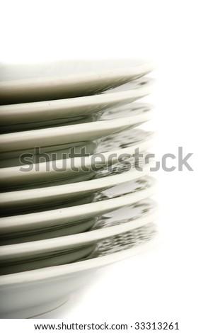 plates closeup - stock photo