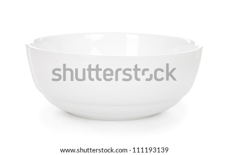 plates isolated on white - stock photo