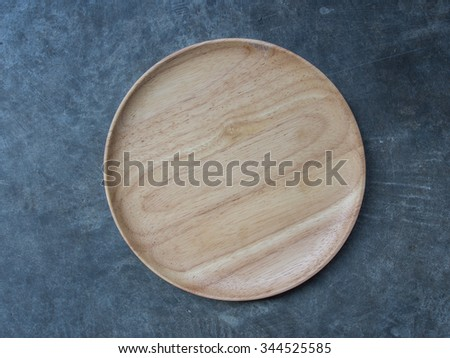 Plates made of wood - stock photo