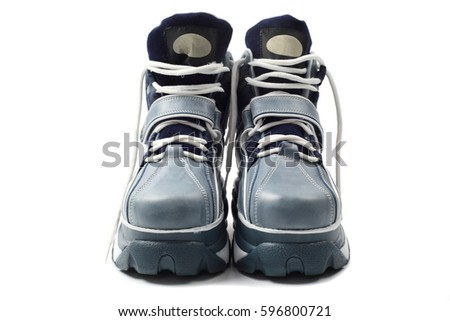 Platform sneakers, isolated with clipping path