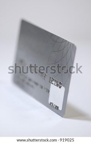 Platinum credit card. Isolated on white background. - stock photo