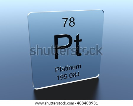 Platinum symbol on a glass square - stock photo