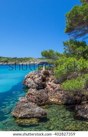 Platja des bot nature view, Menorca, Spain. - stock photo