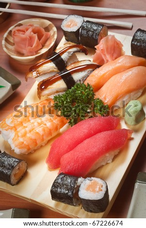 Plato de sashimi mixto - stock photo