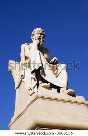 Platon statue in Athens, Greece
