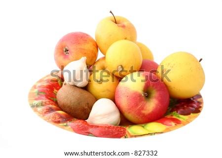 platter of health - stock photo