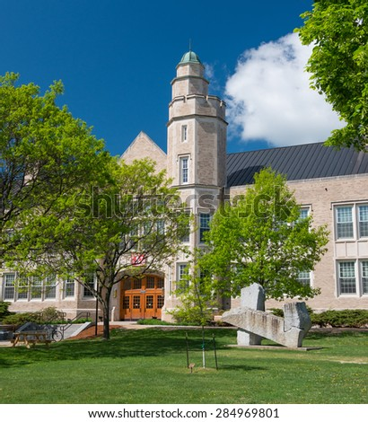 PLATTSBURGH,NY - MAY 22 : The State University of New York at Plattsburgh, also known as SUNY Plattsburgh on may 22nd,2015.The college was founded in 1889 and opened in 1890 and has 6350 students - stock photo