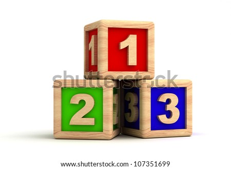 Play Blocks - stock photo
