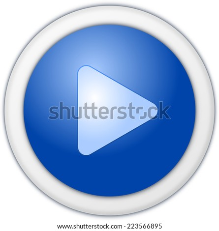 Play button blue circle