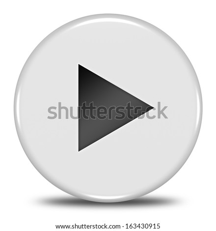 Play button isolated
