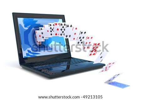 Play cards. Hi-res digitally generated image. - stock photo