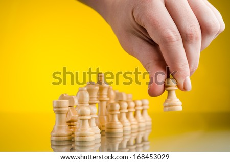 play chess make the first move - stock photo