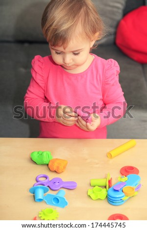 Play dough education - stock photo