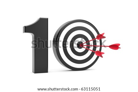 Play on ten. Success metaphor - stock photo