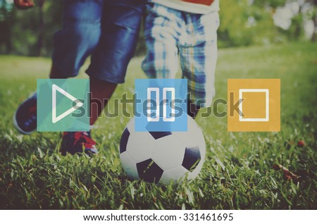 Play Pause Stop Multimedia Entertainment Control Concept - stock photo