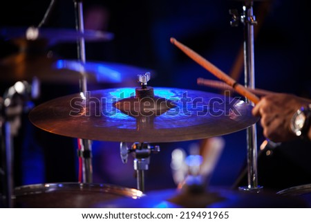 play the drum - stock photo