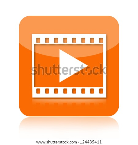 Play video icon - stock photo