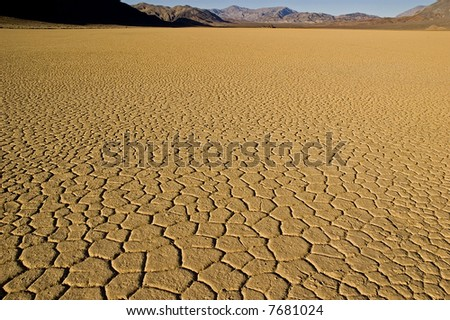 Playa at racetrack, death valley national park