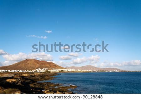Playa Blanca,Lanzarote,Spain - stock photo