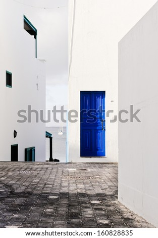Playa Blanca town in Lanzarote, Canary Island (Spain) - stock photo