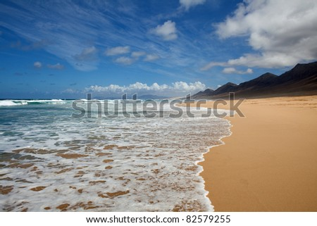 Playa de Cofete, Fuerteventura, Canary Island - stock photo