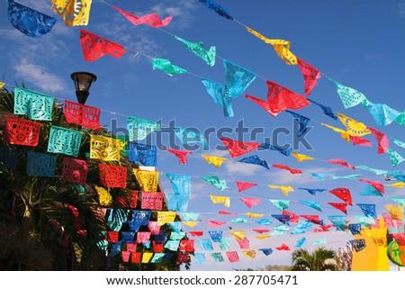 playa del carmen tourist center of the Yucatan Peninsula Mexico - stock photo