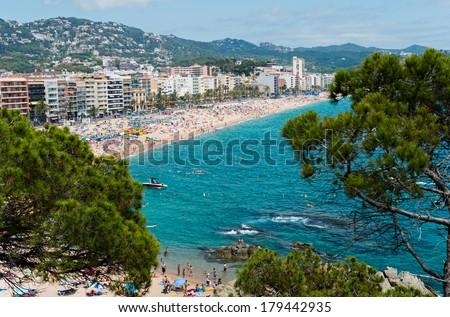 Playa Lloret de Mar - stock photo