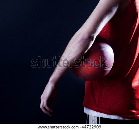 player after basketball  match - stock photo