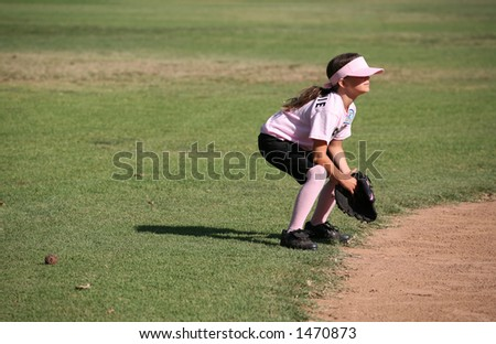 Player anxiously waiting for the ball - stock photo
