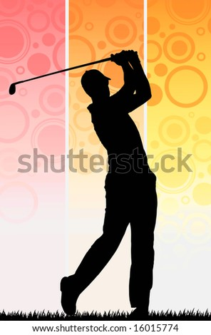 Player Golf - stock photo