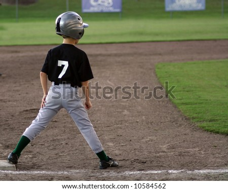 Player on third base heading for home