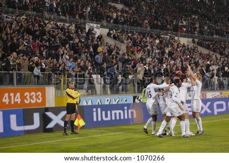 Players Celebrating - stock photo