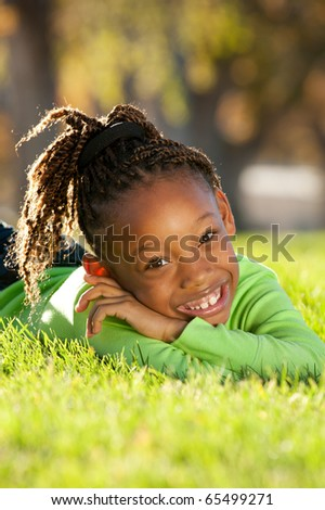 Playful Child Outdoor - stock photo