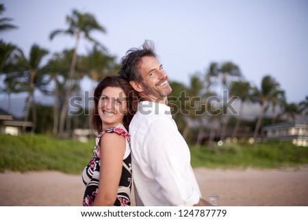 Playful couple - stock photo