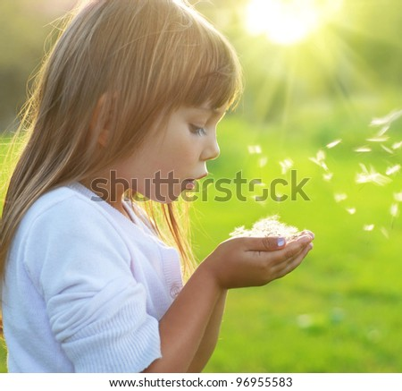 Playful on the meadow - stock photo