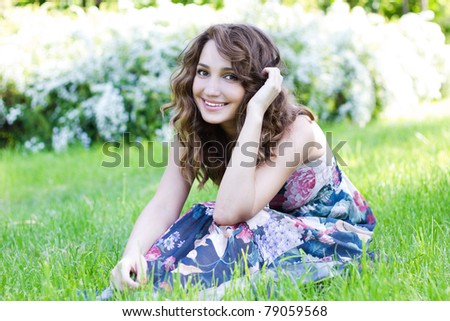 Playful young beauty - stock photo