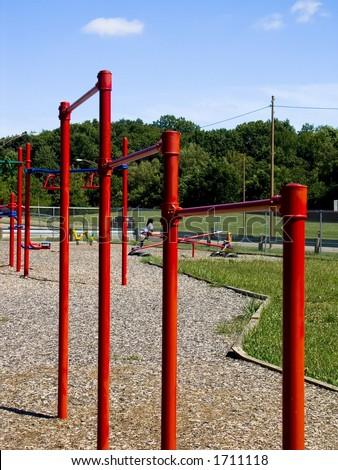 Playground bars - stock photo