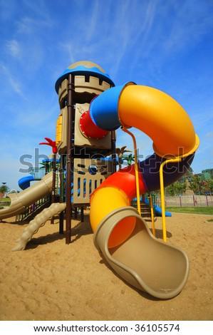 Playground for children - stock photo