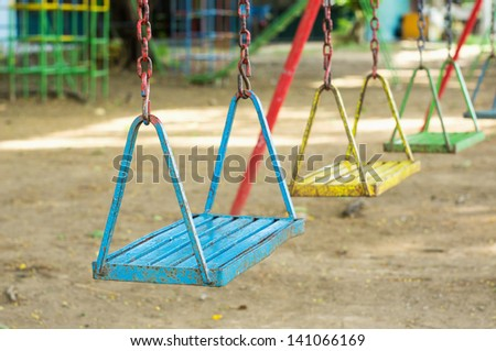 Playground in school - stock photo