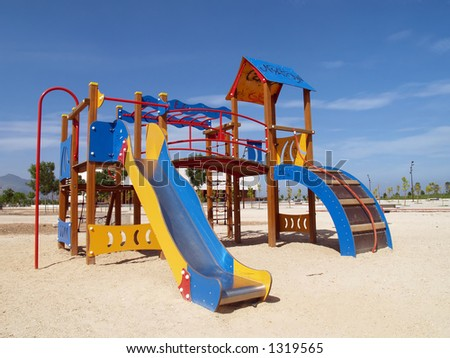 Playground in the sun - stock photo
