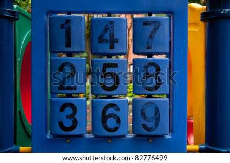 Playground numbers game for kids - stock photo