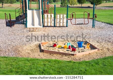 Playground Sandbox Toys Jungle Gym - stock photo