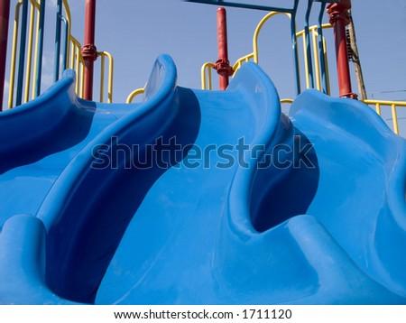 Playground slide - stock photo