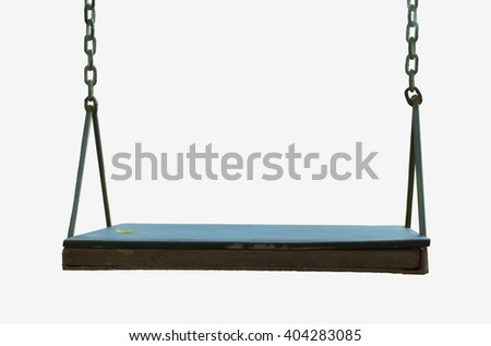 Playground swing in a park