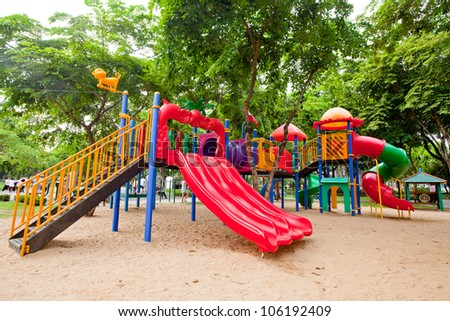 Playground without children.