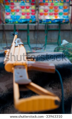 Playing AK-47 - stock photo