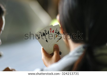 Playing card - stock photo