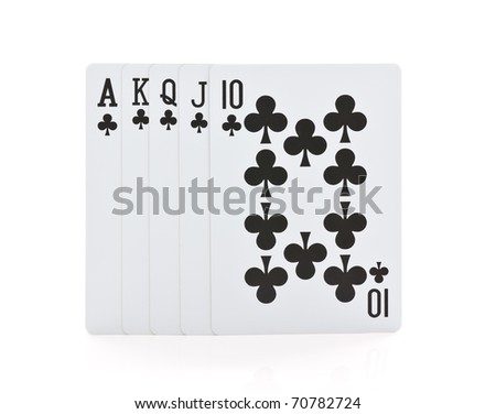 playing card isolated on white - stock photo