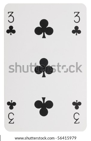 playing card, number tree - stock photo
