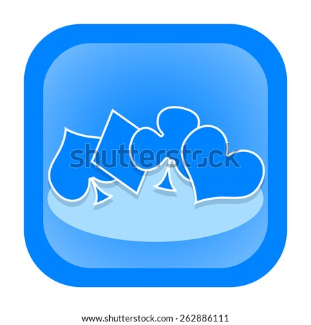 Playing card symbols icon - stock photo